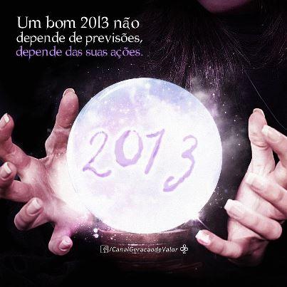 Para um bom 2013