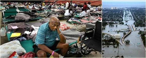 Imagens de New Orleans na época do Furacão Katrina