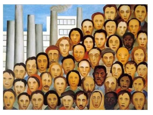 Operários - por Tarsila do Amaral
